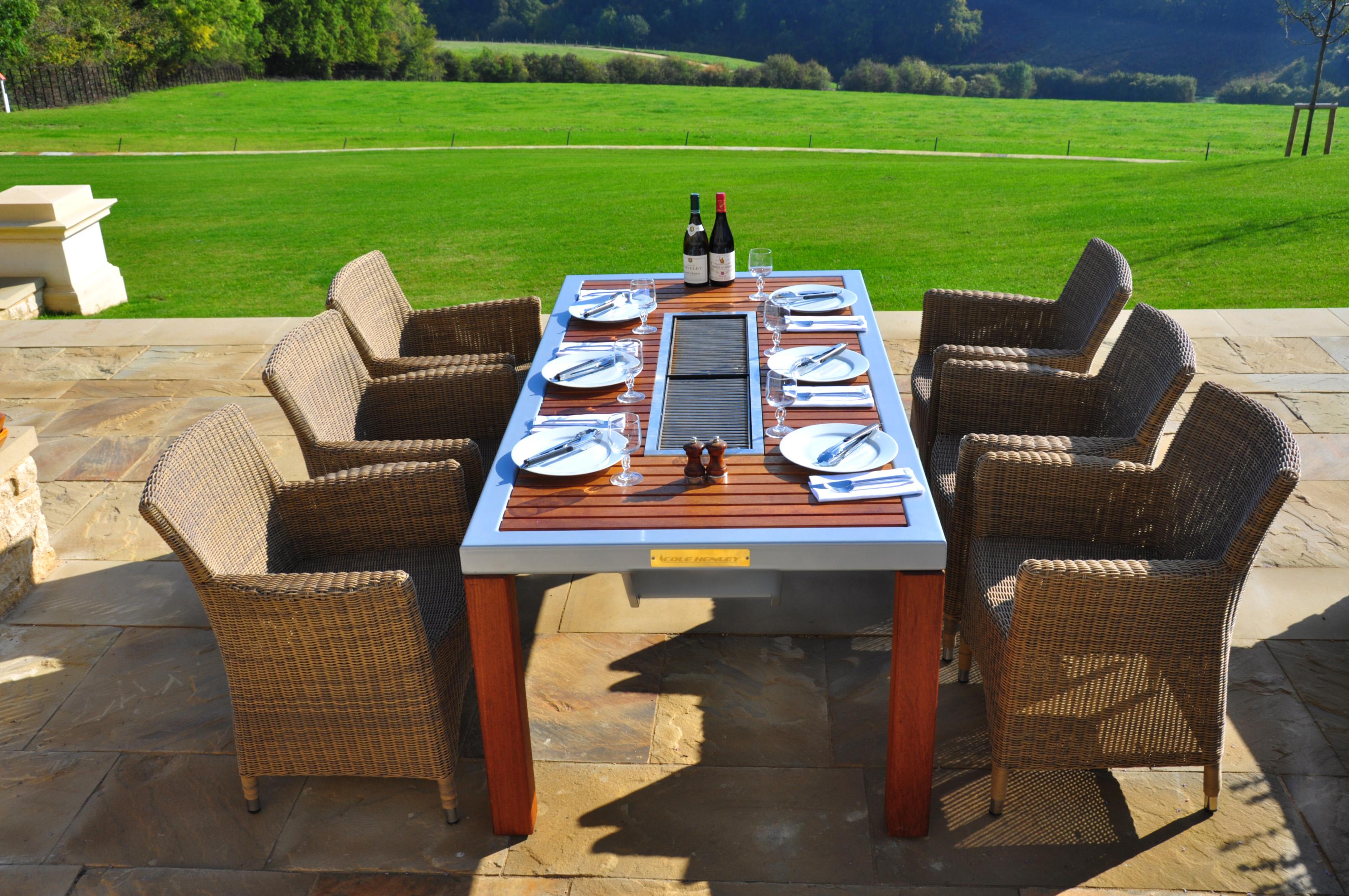barbecue table. Black Bedroom Furniture Sets. Home Design Ideas
