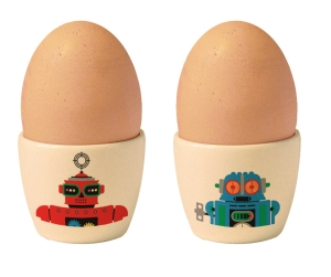 Robot egg cups SM shop