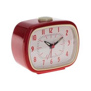 Red retro alarm clock 3