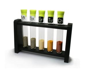 341417  --  Test Tube Spice Rack