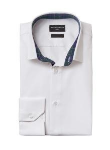 SmartWeave shirt white with tartan 16-23