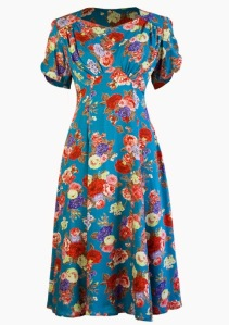 high tea dress 40s retro inspired