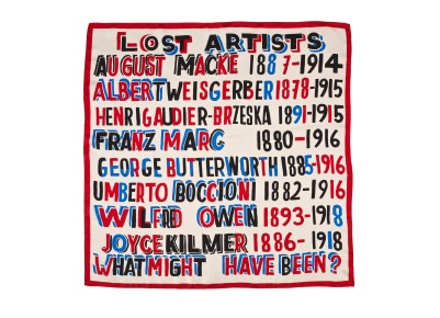 Lost Artists Scarf open www.iwmshop.org.uk