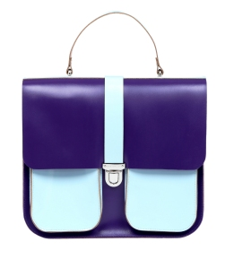 Onslow Top Handle Large Satchel Purple Blue, £350, www.brixbailey.com