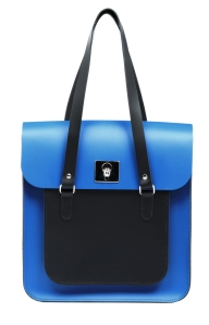 Rosemont Classic Large Satchel Royal Blue Black, £295, www.brixbailey.com