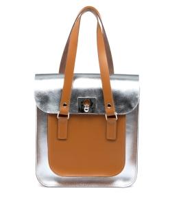 Rosemont Classic Satchel Silver Tan, Black, £255,  www.brixbailey.com