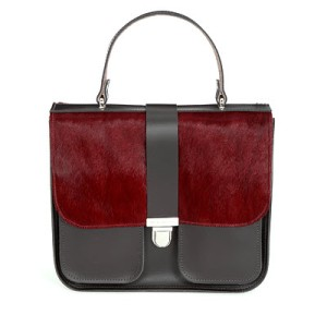 Onslow top handle satchel Red Short Hair: Chocolate £290 www.brixbailey.com low res