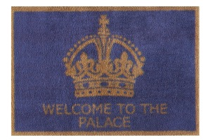 Welcome to the Palace Purple 60x85cm, £49.95, www.turtlemat.co.uk
