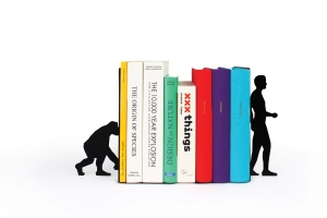 Evolution bookends with books www.sciencemuseumshop.co.uk