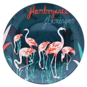 Flamboyance of flamingos melamine plate, £8, www.nhmshop.co.uk