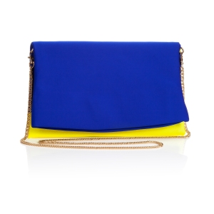 Neoprene Cutch Bag Blue and Yellow shop.royalacademy.org.uk