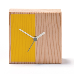 Square Half Yellow Clock, £35.00, www.royalacademy.org.uk