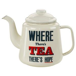 Where There's Tea enamel teapot www.iwmshop.org.uk .jpg