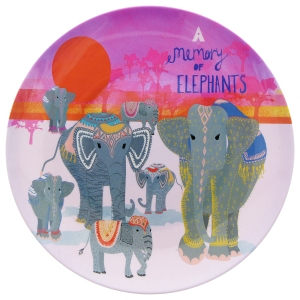 Memory of elephants melamine plate, £8, www.nhmshop.co.uk
