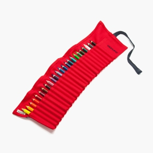 Red Canvas Pencil Roll1 shop.royalacademy.org.uk