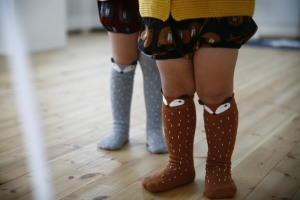 Tippy toes kids Mini dressing-  raccoon tights £7