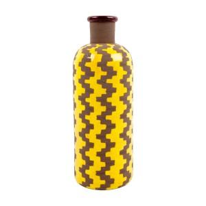 Yellow Graphic Clay Vase £30