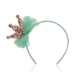 Milk & Soda Mint Champagne Lil Princess Headband, £15 www.tippytoeskids.co.uk