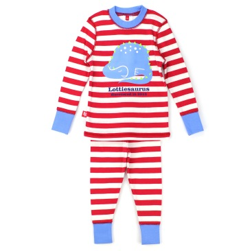 New custom red striped Stegosaurus pyjamas for kids, £26 www.nhmshop.co.uk