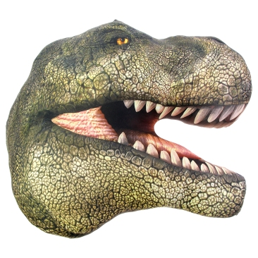 T. rex head-shaped cushion, £15 www.nhmshop.co.uk