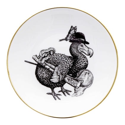 Rory Dobner Illustrated dodo small plate, £40.00 www.nhmshop.co.uk