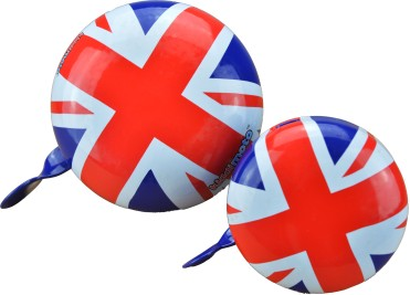 Kiddimoto Union Jack Bike Bells in large and small